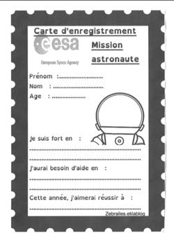 Se présenter le premier jour Mission astronaute