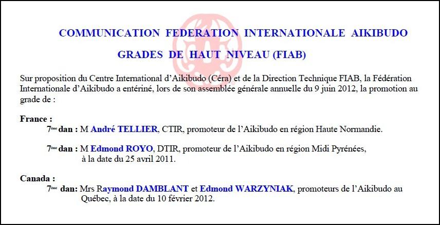 7e dan institutionnel