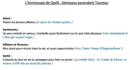 Horoscope de Qwill