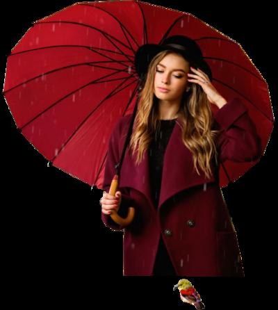 Femmes avec parapluie