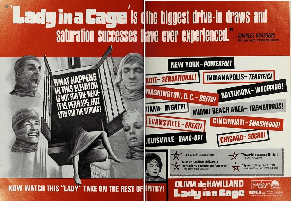 LADY IN A CAGE BOX OFFICE USA 1964