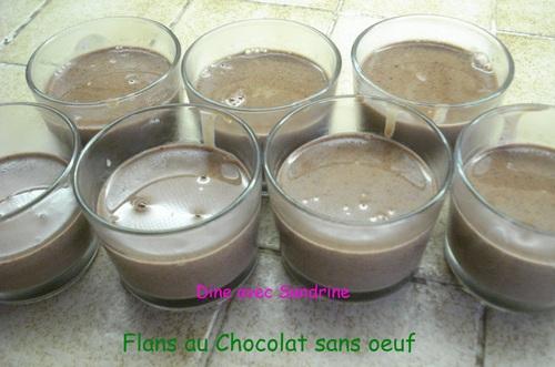Des Flans au Chocolat (sans oeuf)
