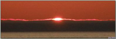 Coucher de soleil à 22 h 50 - Au large d'Aasiaat - Groenland