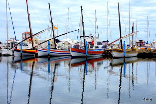 Au Barcarès: reflets au port