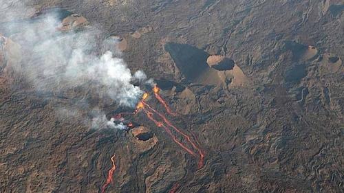 Les éruptions du Piton de la Fournaise...octobre 2010