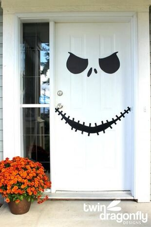 DIY-Halloween-Porte-Squelette: