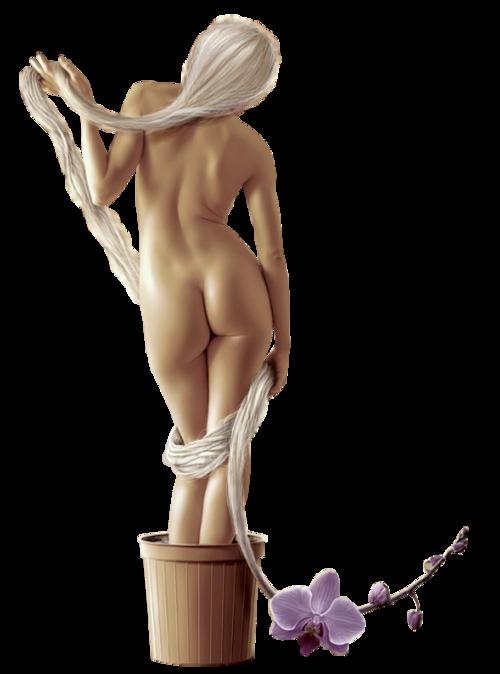 Femme nue  ou légèrement vétue etc