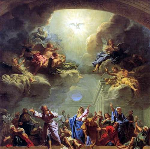 C'est aujourd'hui le jour de la Pentecôte.