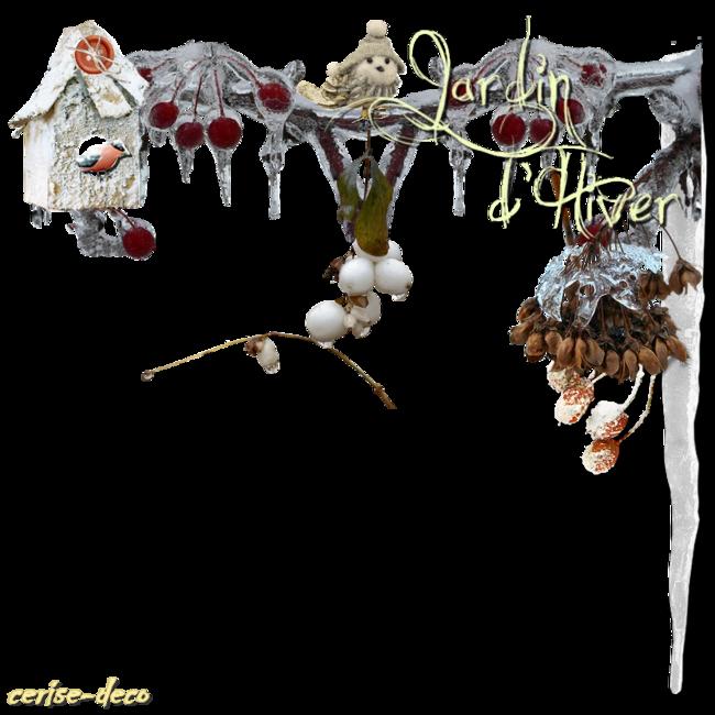 clusters hiver pour vos créations