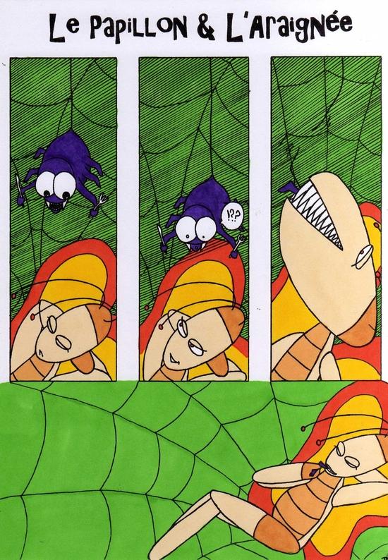 Le Papillon&L'araignée Couleurs