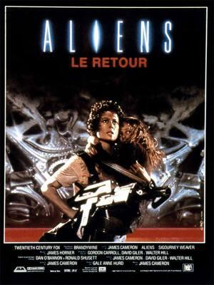 """ALIENS LE RETOUR : Après 57 ans de dérive dans l'espace, Ellen Ripley est secourue par la corporation Weyland-Yutani. Malgré son rapport concernant l'incident survenu sur le Nostromo, elle n'est pas prise au sérieux par les militaires quant à la présence de xénomorphes sur la planète LV-426 où se posa son équipage… planète où plusieurs familles de colons ont été envoyées en mission de """"terraformage"""". Après la disparition de ces derniers, Ripley décide d'accompagner une escouade de marines dans leur mission de sauvetage... et d'affronter à nouveau la Bête. ... ----- ... Date de sortie 8 octobre 1986 (2h 17min) De James Cameron Avec Sigourney Weaver, Michael Biehn, Lance Henriksen plus Genres Action, Epouvante-horreur, Science fiction Nationalités Britannique, Américain"""