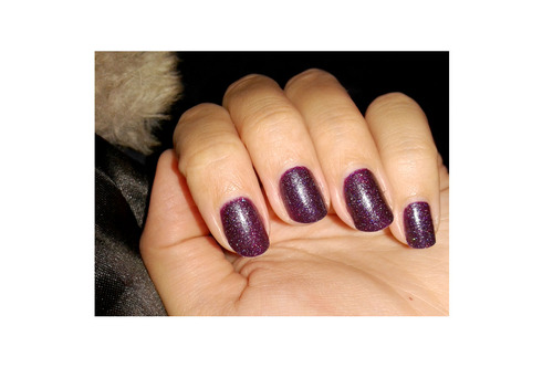 Vernis Violet Microglitter de Kiko