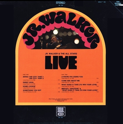 "Jr. Walker & The All Stars : Album "" Live "" Soul Records SS 725 [ US ]"