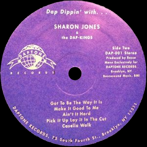 "2002 : Album "" Dap Dippin' With Sharon Jones & The Dap Kings "" Daptone Records DAP-001 [ US ]"