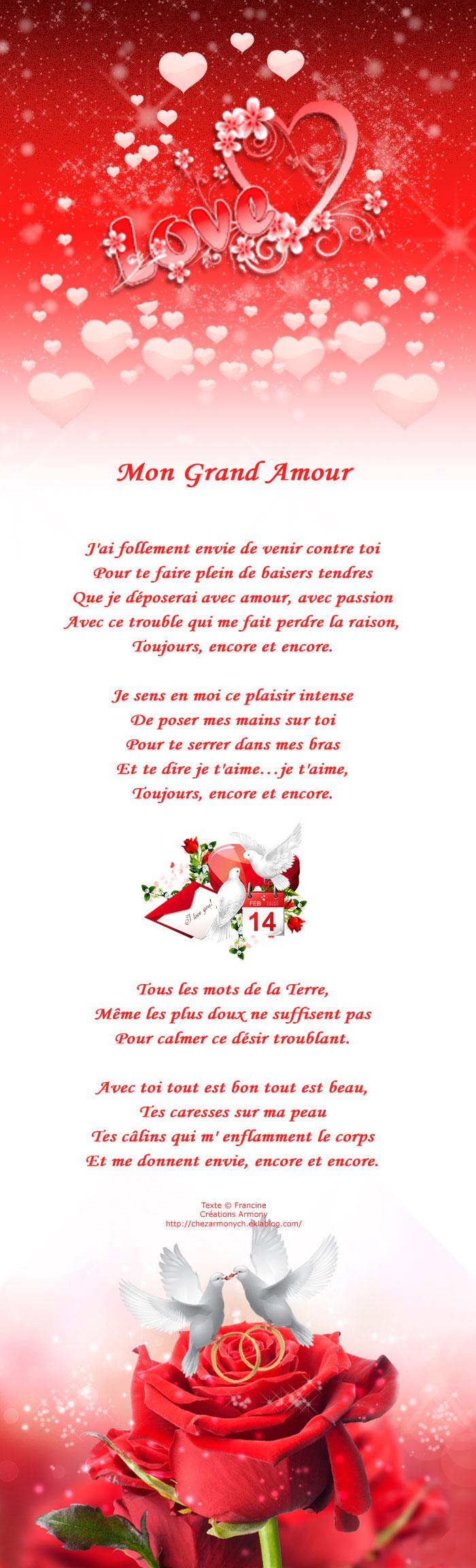 poème st-valentin, mon grand amour