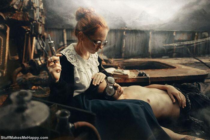 photographe russe crée des manipulations photo incroyablement surréalistes, leur ajoutant un peu de magie surréaliste