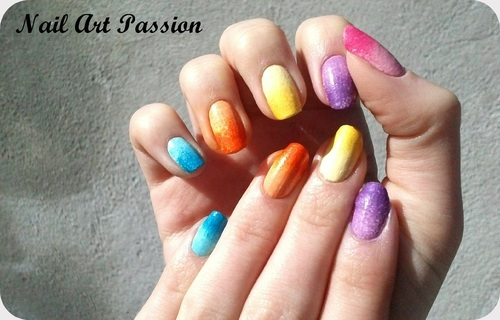 Nail art dégradé craquelé (+swatch) !