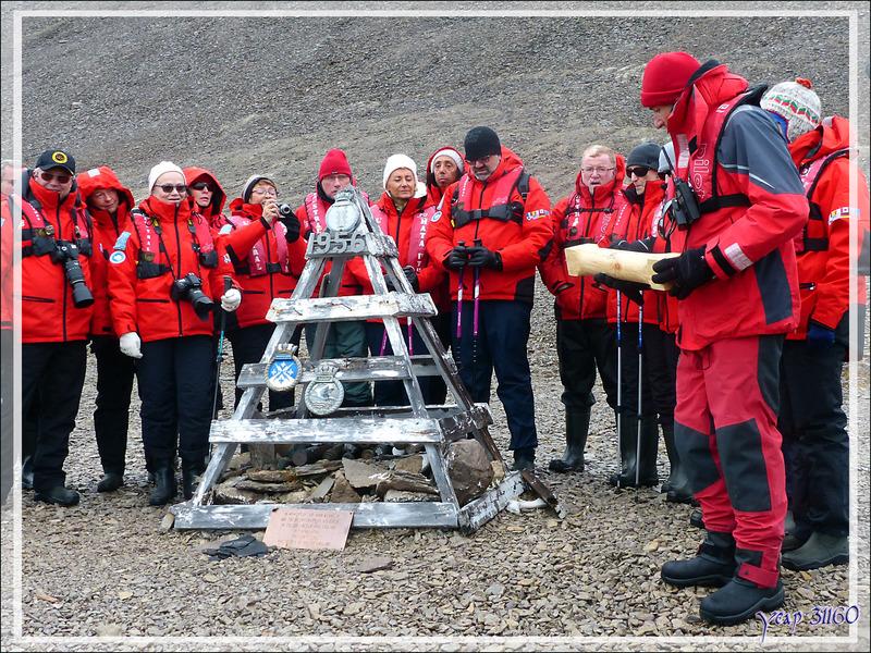 Les monuments commémoratifs de l'expédition Franklin et les vestiges des recherches qui s'en suivirent - Beechey Island - Baffin Bay - Nunavut - Canada