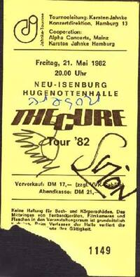 1982.05.21-The Cure-Neu-Isenburg-Hugenottenhalle