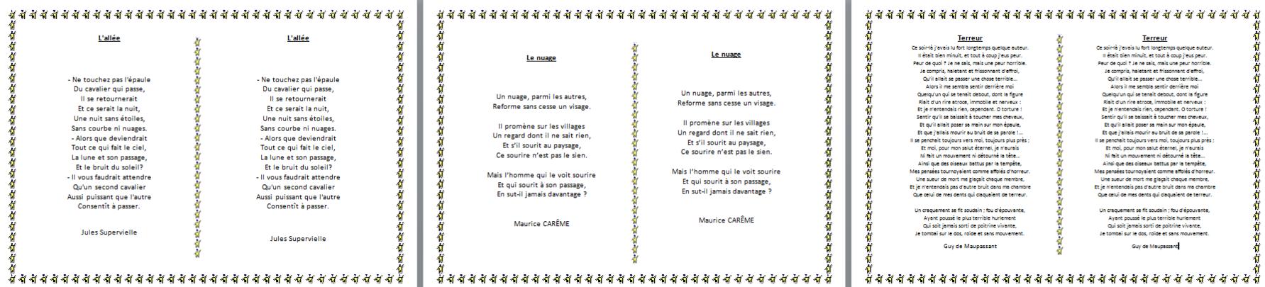poésie : thème du fantastique - CM