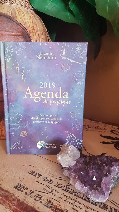 """""""Agenda de pratique 2019 : 365j pour développer vos capacités créatives et magiques"""" <3 J'adore cet agenda riche de contenu et ludique, à transformer et personnaliser"""