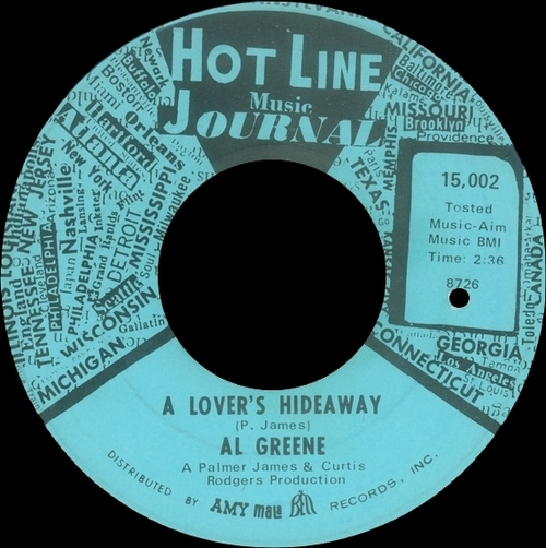 "1967 : Al Green : Album "" Back Up Train "" Hot Line Music Journal Records HLS-1500S [ US ]"