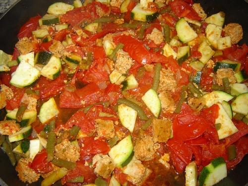Légumes du potager et galettes à l'estragon