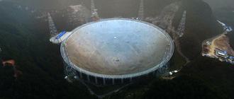Le plus grand radiotélescope du monde entre en fonction...