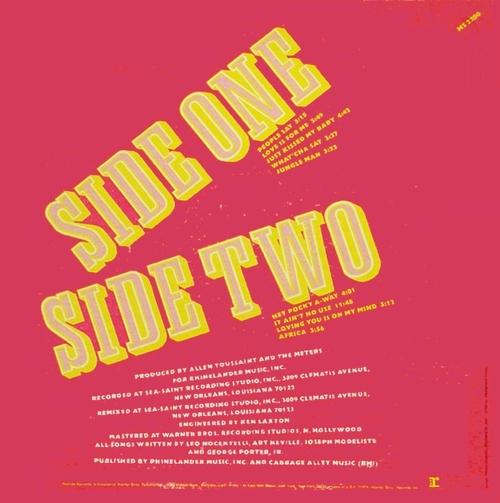 """The Meters : Album """" Rejuvenation """" Reprise Records MS 2200 [ US ]"""