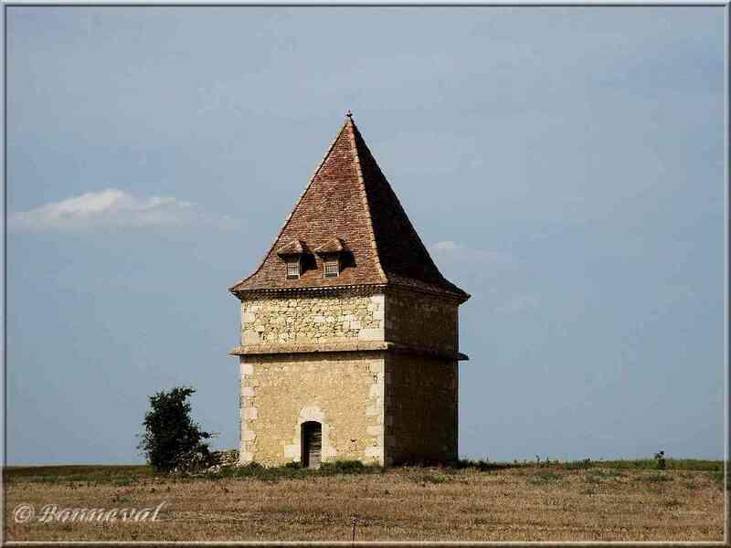 Pigeonnier tour carrée à toit gaillacois Saint Clar Gers
