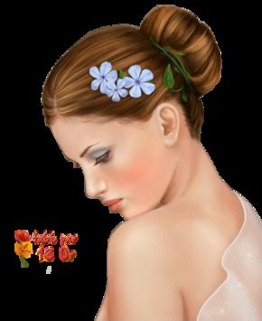 Des fleurs dans les cheveux