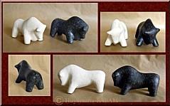 sculpture taureaux en pierre - Arts et Sculpture: sculpteurs animaliers