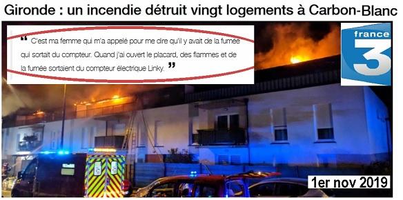 Incendies : le compteur Linky tue et détruit les logements
