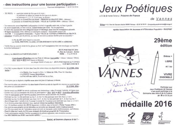 Concours de poésie 2016