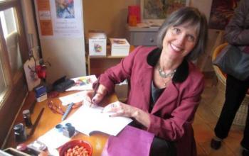 Roselyne Morandi propose des moments de poésie, avec des auteurs de la région.