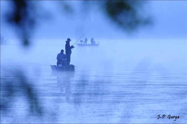 Lever du jour à l'étang de Marcenay...