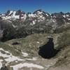 Du sommet du pico de Lavaza Oriental, le massif Garmo Negro Infiernos