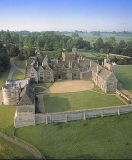 Rockingham Castle, Northamptonshire, one of the most historic medieval houses in England:
