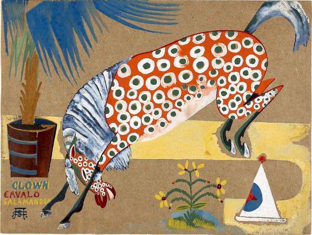 Amadeo De Souza-Cardoso, Titre inconnu (Clown, cheval, salamandre), vers 1911-1912,Lisbonne, CAM / Fundação Calouste Gulbenkian