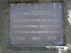 ANTOINE ROUSSEL-INVENTEUR DU FROMAGE BLEU D'AUVERGNE