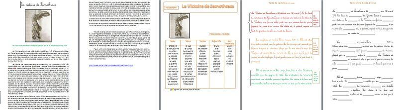 français : orthographe - dictée de l'art - la Victoire de Samothrace