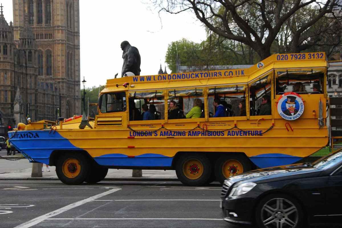 En bus amphibie...