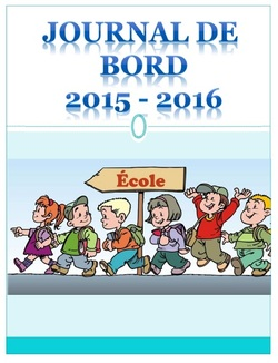 Journal de bord 2015-2016