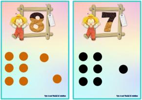 Cartes de dénombrement et représentation des schèmes de 1 à 10
