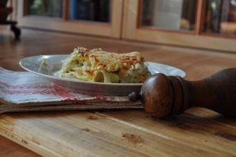 Lasagne aux poireaux et chou
