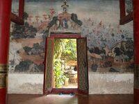 Peinture murale dans un temple
