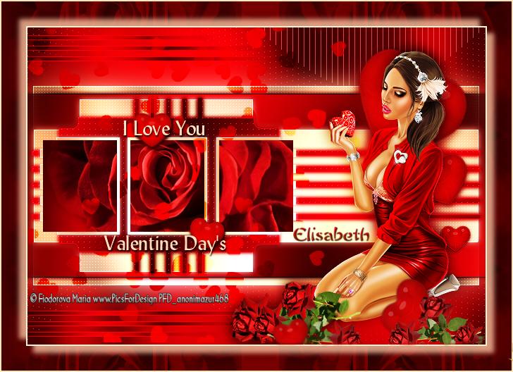 """Ma réalisation du tuto """"St Valentin I love you"""" de Tchounette"""