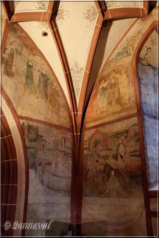 La légende de Saint-Nicolas fresques église d'Hunawihr Haut-Rhin