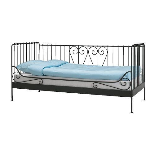 lit en fer forg ikea noir floflo m34. Black Bedroom Furniture Sets. Home Design Ideas