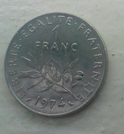 Ma collection du Franc Français ( pieces de monnaie )